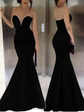 robe de soriee Ensotek Cheap Sexy Swetheart Long Black Evening Gowns Mermaid Prom Party Dress vestido noiva curto Customized