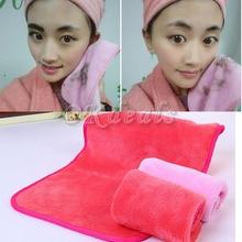 Очищение микрофибры снятия многоразовые макияжа ткани колодки полотенце лица инструменты для