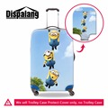 Santa Clau spandex cubre equipaje para las niñas, lindo Minions equipaje impermeable cubiertas protectoras, trolley elástico cubiertas protectoras
