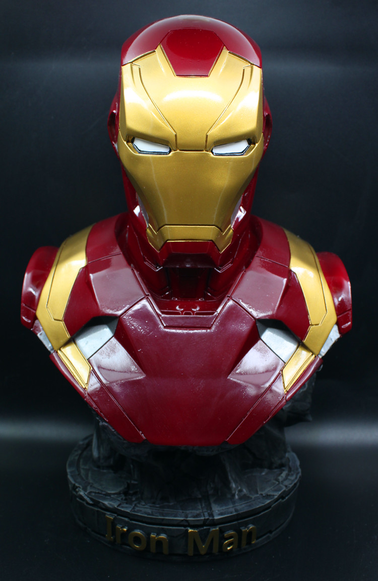 [Funny] Large size 36cm The Avengers hero Iron man MK46 Coloring resin figure statue toys Collection model desk Ornaments gift 1