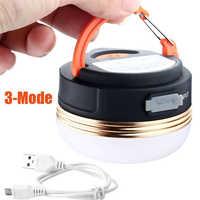 Mini luces de Camping portátiles 3 W LED linterna de Camping impermeable carpas lámpara al aire libre senderismo noche lámpara colgante USB recargable