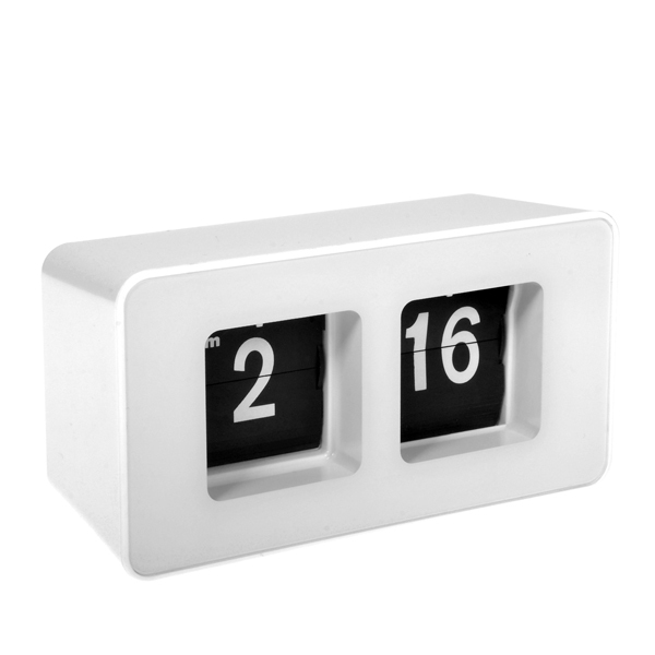 US $17 99 |Top Quality Quartz digital Alarm Clock,Modern Automatic Flippage  Flip Page Alarm Clock,Dynamic Table watch simple Art-in Alarm Clocks from