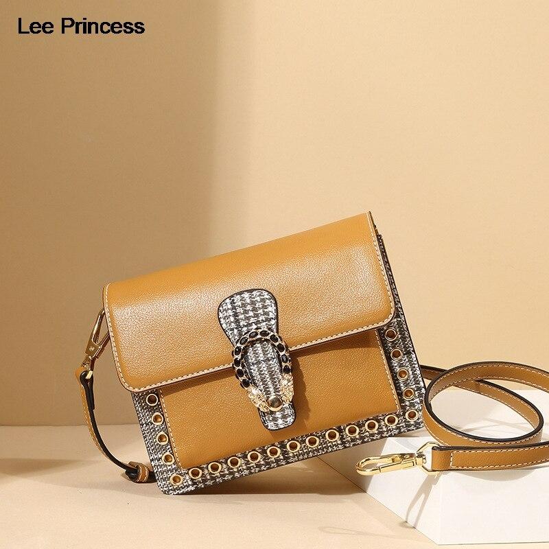LEE PRINCESS Women Shoulder Bag Free Wide Narrow Shoulder Strap Rivet Rhinestone Lady Crossbody Bags Girls