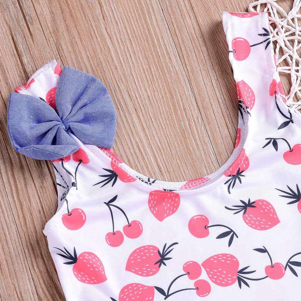 2fa7e03d0f75 ... New Trendy Kids Girl Beachwear Clothes 2019 Romper Children Girls  Bikini Fruits Bowknot Beach Swimsuits Bathing ...