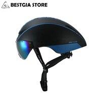 CAIRBULL AERO R1 Cycling Helmet Magnetic Goggles Bike Bicycle Helmet Road Mountain MTB Pneumatic TT Helmets