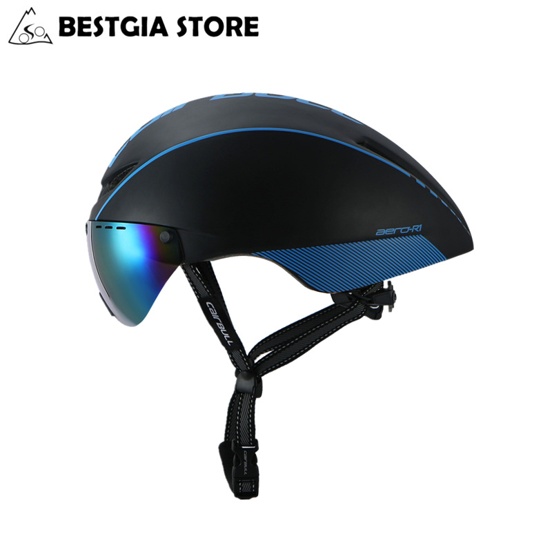 CAIRBULL AERO-R1 Radfahren Helm Magnetische Brille Bike Fahrrad Helm Straße Berg MTB Pneumatische TT Helme Casco Ciclismo Kappe