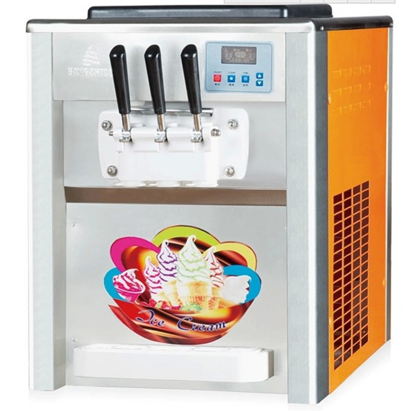 220V Commercial Mini Desktop Ice Cream Machine 18-25L/H Full-automatic Soft Ice Cream Cone Machine Three Flavors гитарные струны ernie ball 2835 для бас гитары