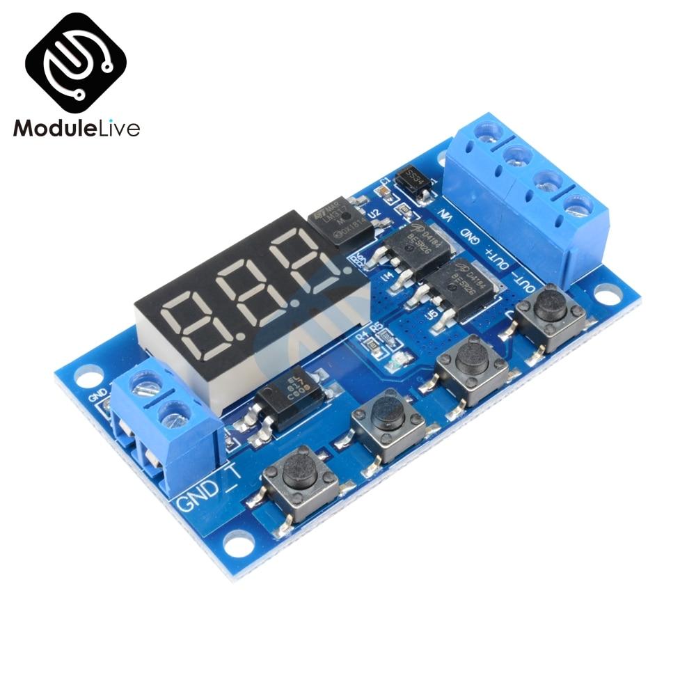 цена на DC 12V 24V Trigger Cycle Timer Delay Switch Circuit Board Dual MOS Tube Control DC Motor LED Light Module Micro Pump Controller