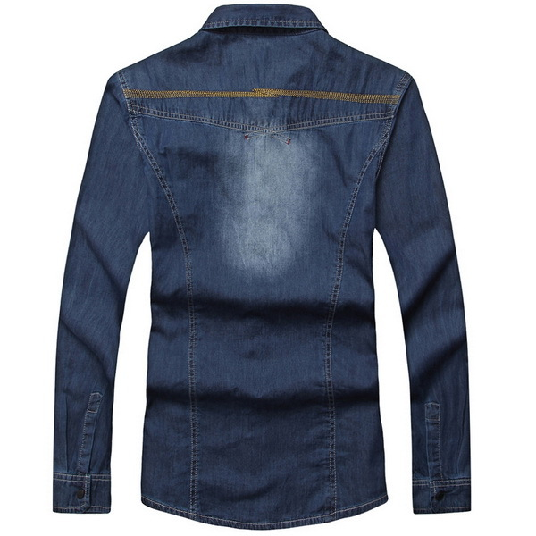 43ac58b60 America Fashion Trendy Men Denim Shirt Designer Clothes Size M-2XL Snap  Button Fly Long Sleeve Charm Men Jeans Cardigan