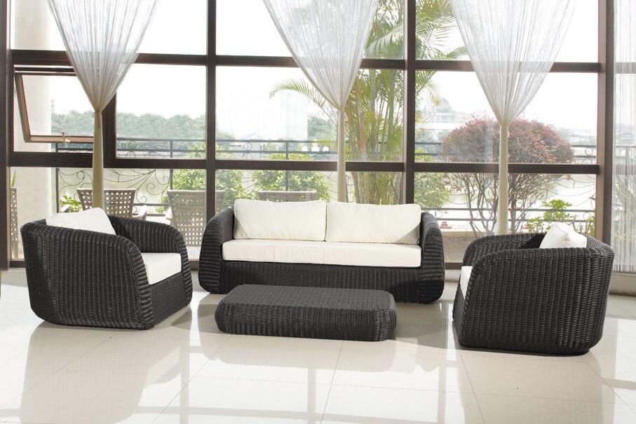 2017 Wasserdichte Bali Benchcraft Runde Rattan Outdoor Lounge Möbel