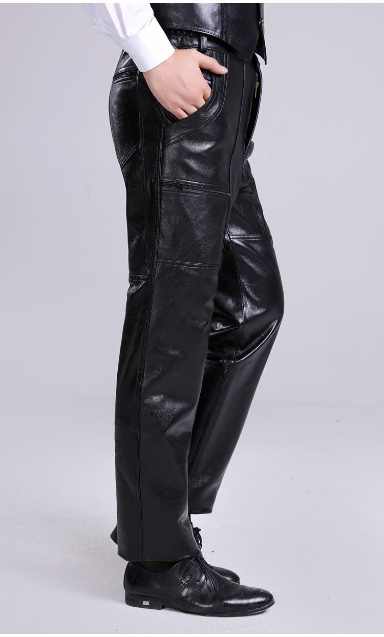 31-44 Большой размер мужчины овчины <font><b>lederhosen</b></font> мужчины подлинные кожаные штаны плюс размер мотоцикл кожаные штаны