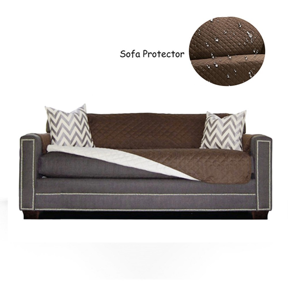 Quilted Couch Covers with Waterproof Back for Sofa and Armchair in Living Room to Protect the Sofa from Scratches 1