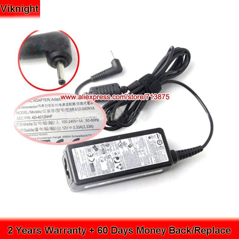 12 В 3.33A 40 Вт AA-PA3N40W AD-4012NHF ADP-40MH A Зарядное устройство для Samsung tiv Smart PC XE500T1C XE700T1C XQ500T1C ноутбук AC адаптер