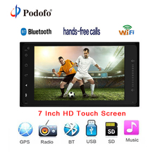 Podofo Car Multimedia Player Android 2 din Radio GPS Navigation 7″ HD Touch Screen 7001T autoradio Wifi Bluetooth for Toyota