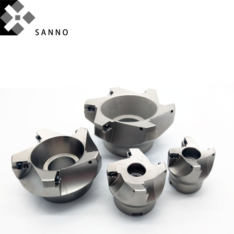 75 Degree milling cutter 1604 square face mill head BAP400R 63 80 hard milling machining cutter tools