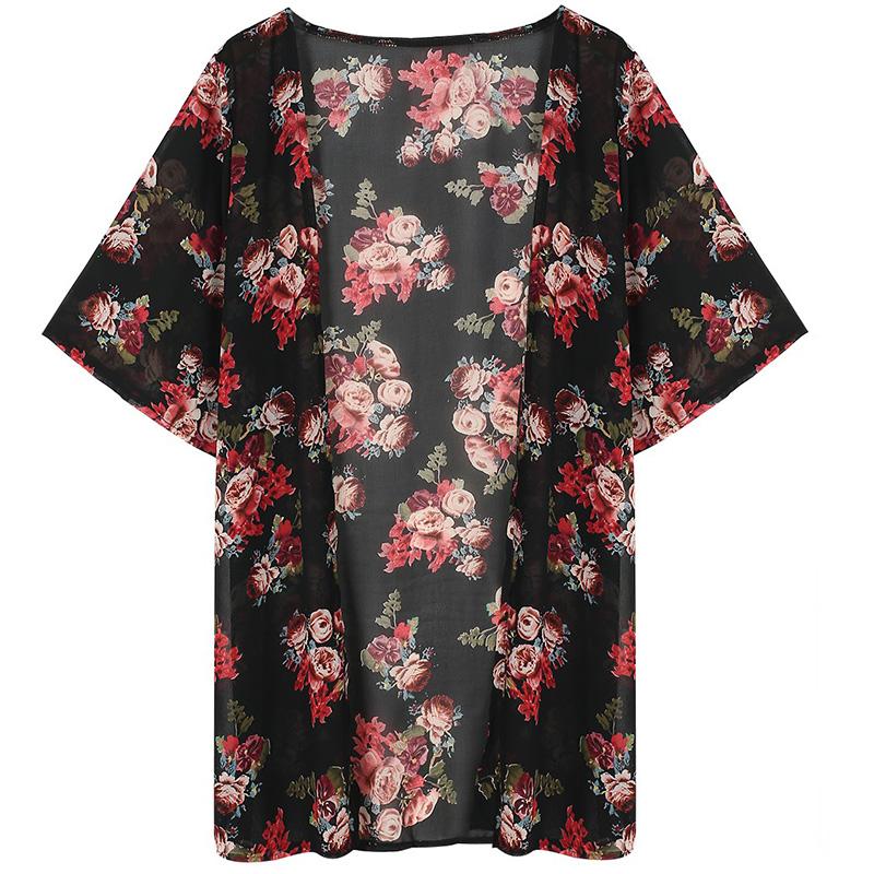 Must lilledega kimonopluus