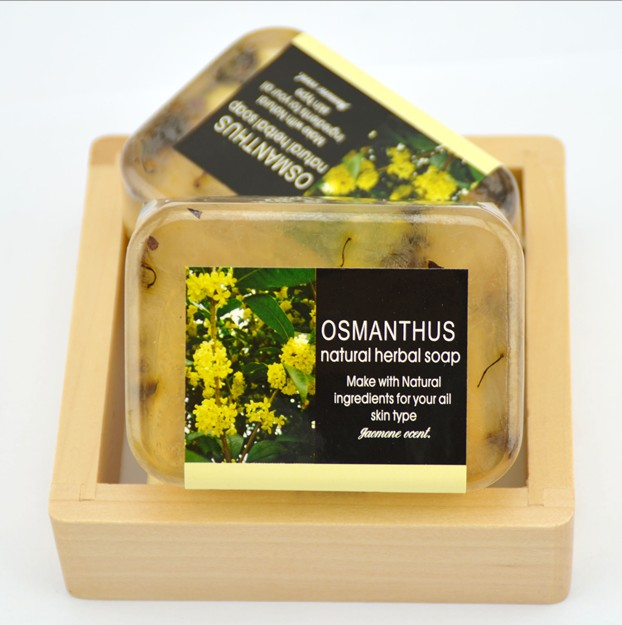 100g Osmanthus Essential handmade Soap play dough toy whitening freckle Bathing soap Makeup Remover d10