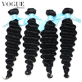 7A Brazilian Virgin Hair Deep Wave Human Hair Weave 3 Bundles,Vogue Queen Hair Products,Brazilian Deep Wave Curly Hair Extension