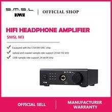 SMSL M3 USB усилитель DAC Многофункциональный оптический коаксиальный усилитель для наушников Портативный Питание от порта USB аудио декодер Портативный ЦАП преобразователь