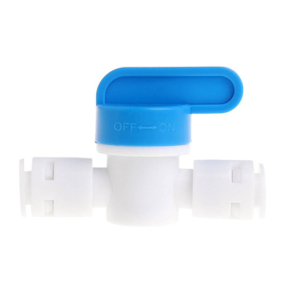 RO Water Reverse Osmosis 1/4 Inline New Ball Valve Quick Connect Shut off  RO Water Reverse Osmosis 1/4 Inline New Ball Valve Quick Connect Shut off