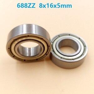100 шт./лот 688ZZ 688 ZZ Высокоуглеродистая сталь подшипник 8x16x5 мм глубокий шаровой подшипник Миниатюрный Мини подшипник 8*16*5