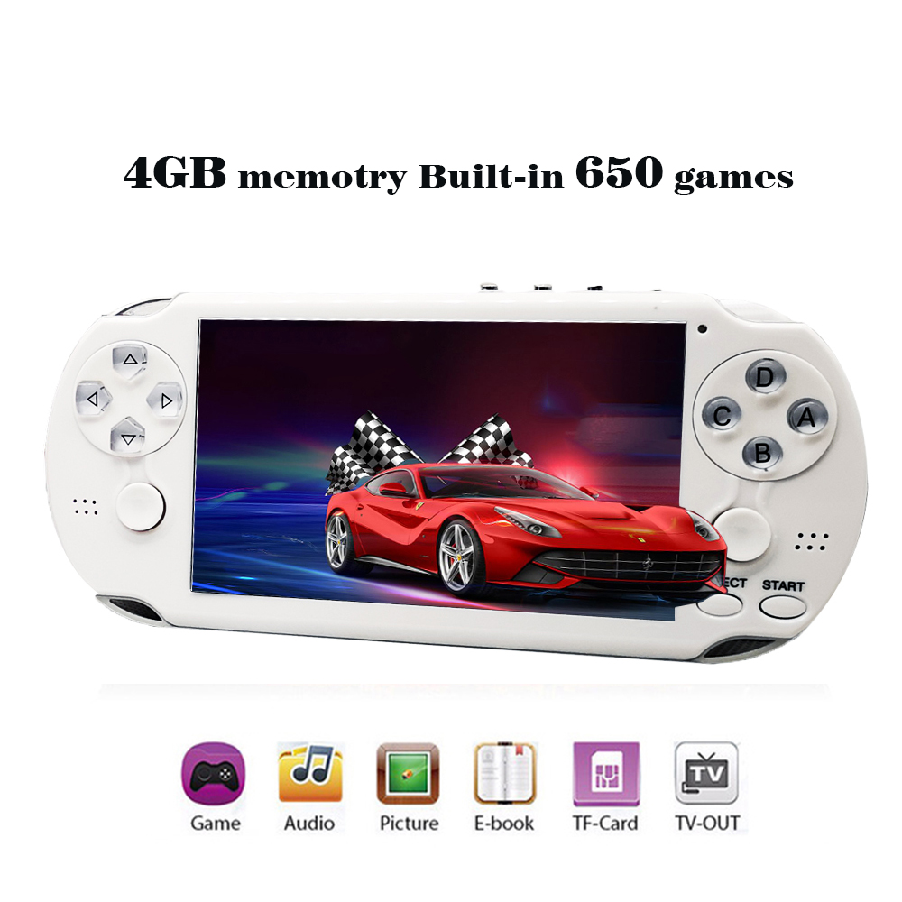 Retro Game Handheld Game Console Consolas De Video Juego 1000 Video Games 64 Bit Black Game Console Portatil PAP GAMETA II