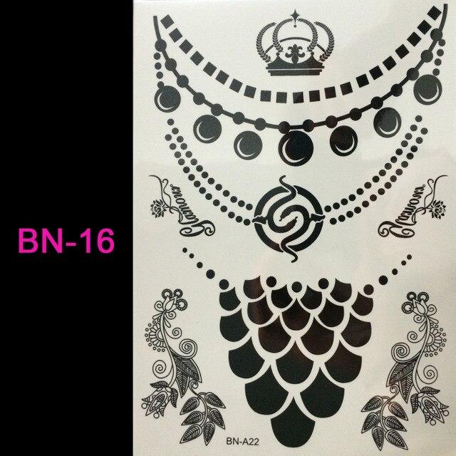 19f051c54240d #BN-16/Black lace tattoo temporary tattoo Flash tattoos women arm body art sticker  sex products tatto tatoo /TONGMENG