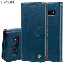 Flip holster for Samsung Galaxy S10 Plus A50 A40 A70 A30 A20 A10 S10e Cover Wallet Bracket Mobile Phone Case