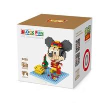 LOZ 9439 New Year s Greetings Plutus Mickey Diamond Bricks Minifigures Building font b Block b