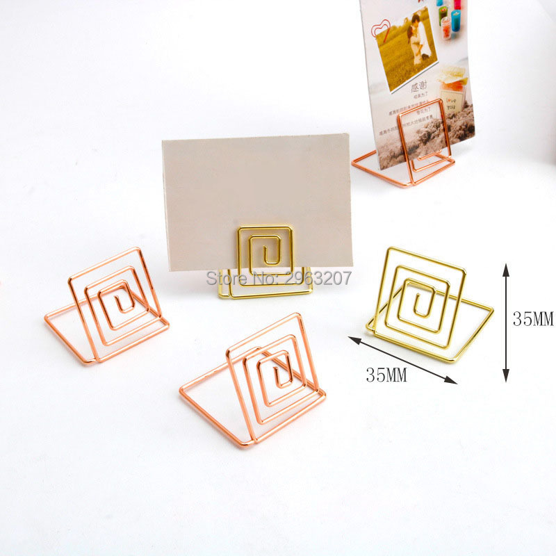 200pcs Place Card Holders Clips Wedding Cafes Table Photo Memo Number Name Holder Clip Anniversary Party Decor