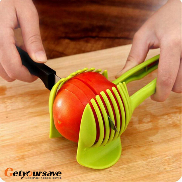 Novela tomate frutas cortador De soporte De Utensilios De Cozinha asistente holgazanes De tomate limón Shreadders cortadora