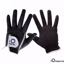 Golf-Gloves Finger-Ten Left-Hand Breathable Black Right Men Rain-Grip Wet Micro-Fiber