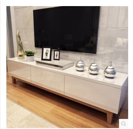 Tv Armoires Blanc Bois De Peinture Combinaison De Créativité IKEA Salon  Moderne Minimaliste Style Scandinave Meuble