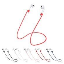 Apple airpods 2 스트랩 이어폰 액세서리 apple 이어폰 용 안티 분실 헤드폰 스트랩 에어 포드 용 실리콘 스트링 로프