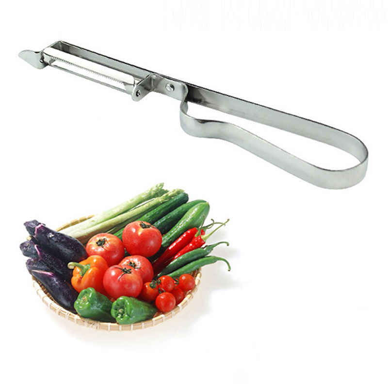 1 pc Cortador de Legumes Fruta Batata Peeler Parer Slicer Da Maçã do Aço Inoxidável Ferramenta 15.5 cm