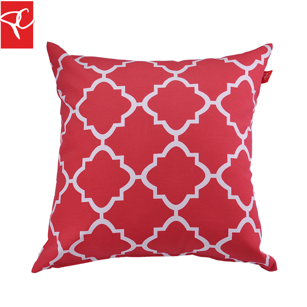 PC 2pcs/lot Outdoor Furniture Decor Pillow Polyester Water Repellent  Printed Cushion Cover Throw Pillow