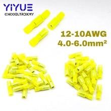 цена на 50Pcs Bullet Wire electrical Connector Male Female Crimp Insulation Nylon Cable Terminals Yellow MRFNY5.5-156 Car Terminator