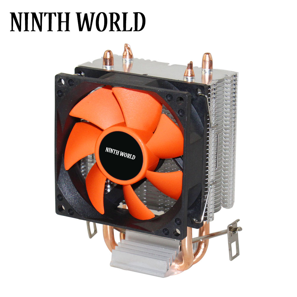 2 Heatpipes CPU Refroidisseur TDP 18dab Super Silencieux CPU Ventilateur En Aluminium Radiateur Pour LGA 775/1150/1151/ 1155/1156/1366 & FM1/2, AM2 +/3 +