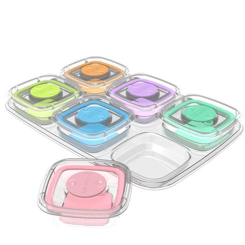 a1a869e5a ML 60 ML 120 ML bebé cajas de almacenamiento de alimentos de Color caramelo  de los niños vajilla caja sellada de comida de bebé contenedores tazas ...