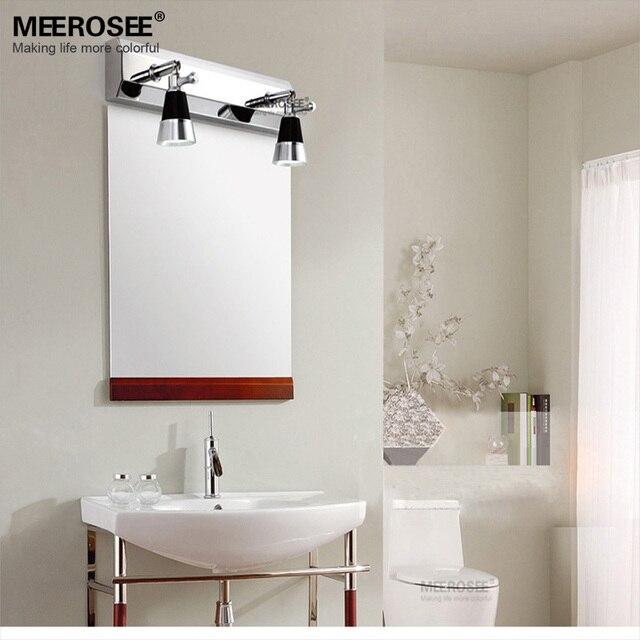mordern led bao pared del accesorio de iluminacin lmpara llevada del espejo del metal del cromo