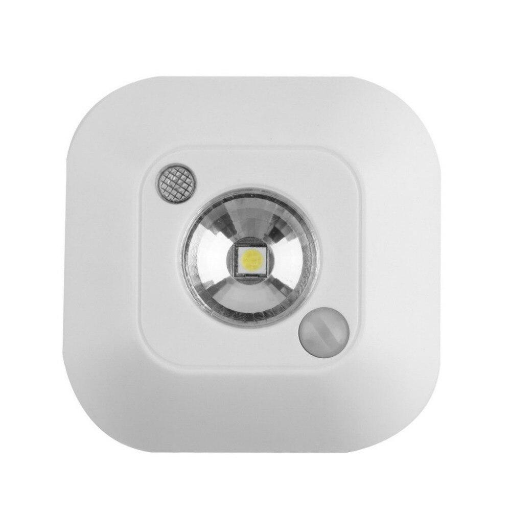 LED Mini Wireless Infrared Motion Sensor Night Light Wall Emergency Wardrobe Cabinet Porch Night Lamp White