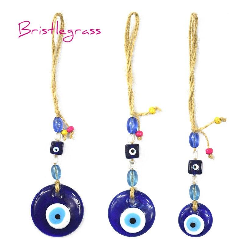 BRISTLEGRASS Turkish Blue Evil Eye Glass Amulet Lucky