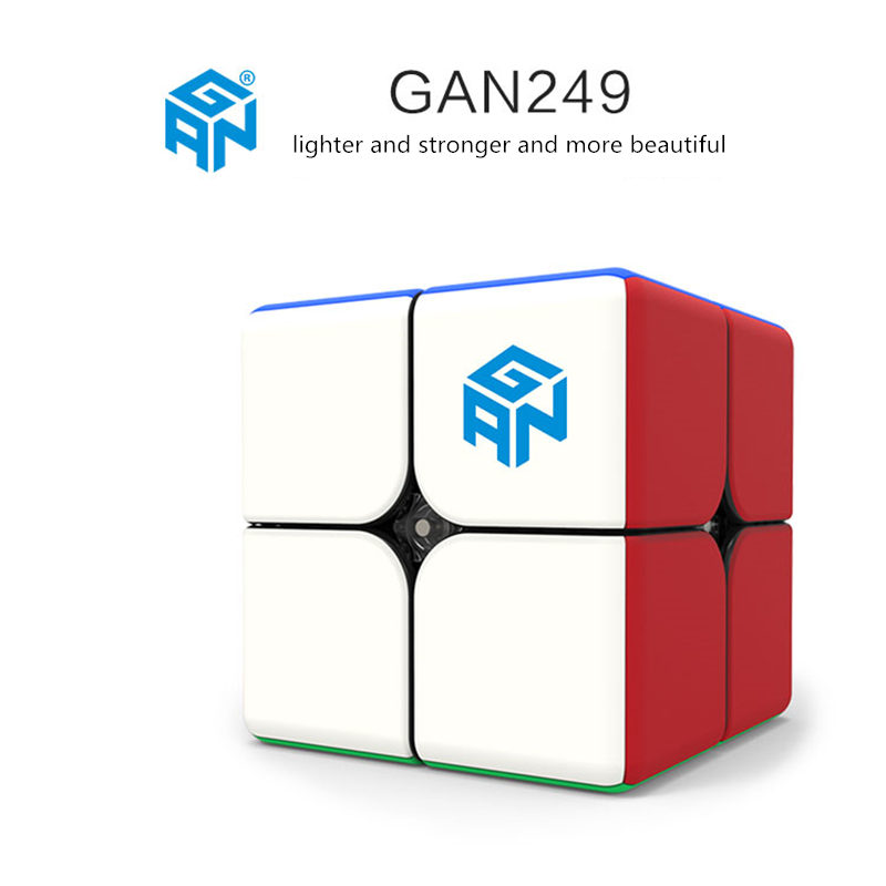 Image 2 - Gan249 2x2 magic speed cube stickerless GAN 249 V2M puzzle pocket Cube colorful gans toys for Children-in Magic Cubes from Toys & Hobbies
