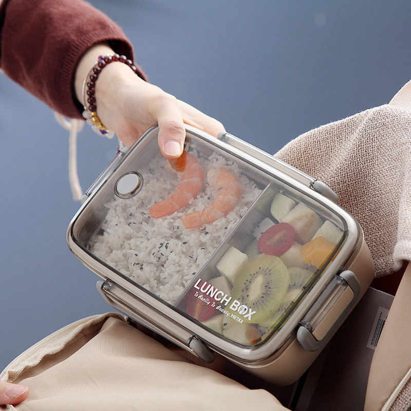 ISHOWTIENDA Multilayer Lunch Box Stainless Steel Insulation Lunch Bento Box Food Container Portable For Kids Picnic School