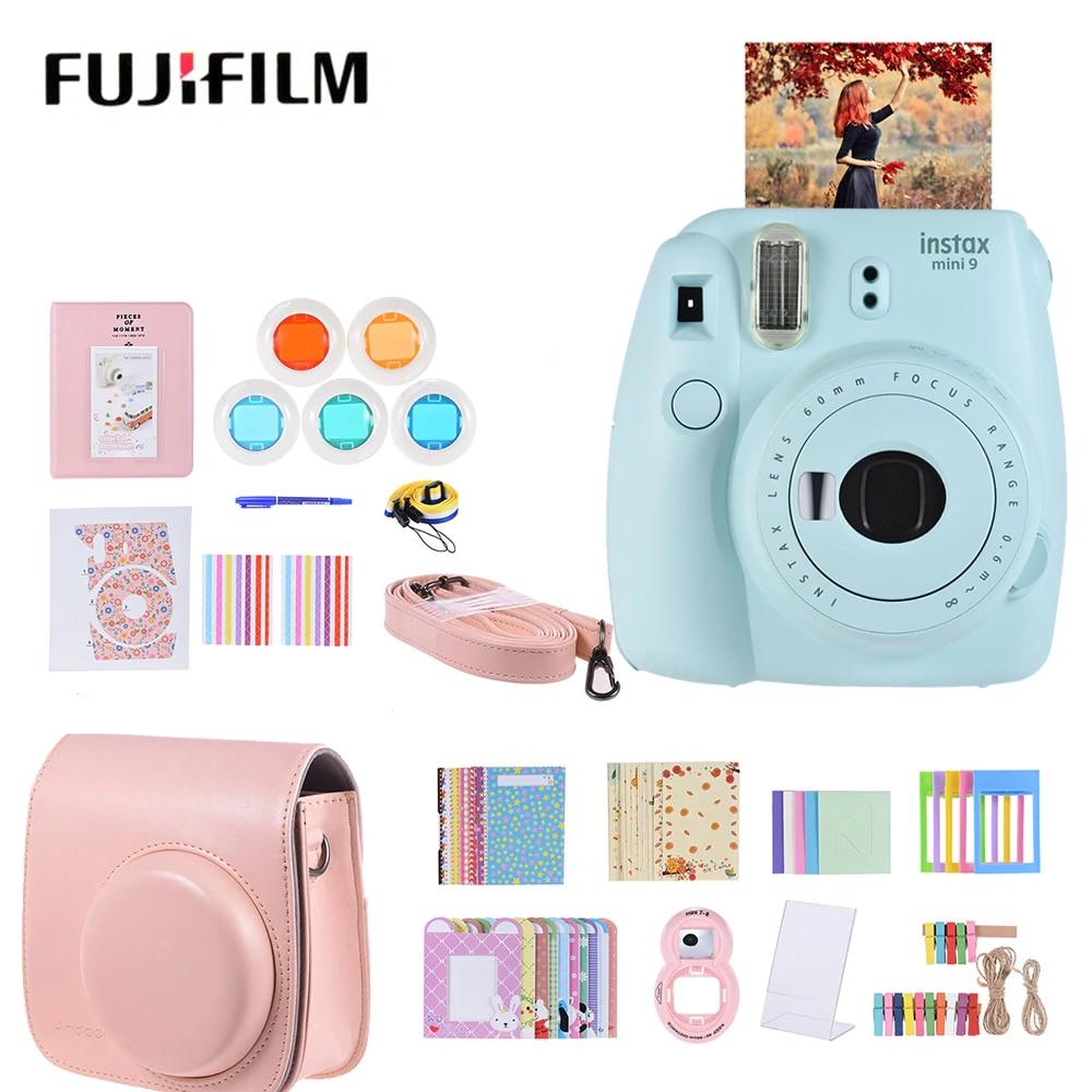 Fujifilm Instax Mini 9 Instant Camera Film Cam With Selfie Mirror 14 In 1 Accessory Kit  With Case/Strap Etc For Fujifilm Mini 9