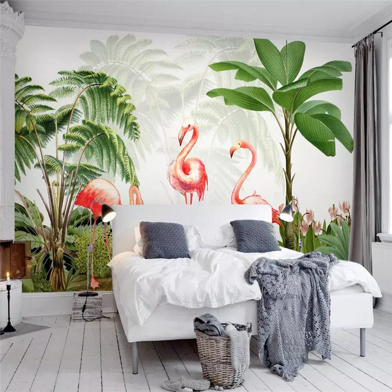 Creative wallpaper tropical plant leaves background wall professional making mural photo wallpaper in Fabric Textile Wallcoverings from Home Improvement