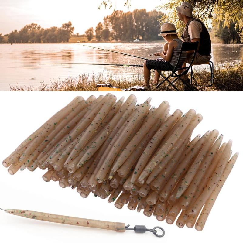 30pcs Soft Anti Tangle Hook Sleeves Tubes Carp Fishing Rig Terminal Tackle