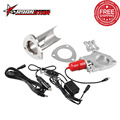 "Ryanstar - 2.25"" 2.5"" 3"" Electric Stainless Exhaust Cutout Exhaust Muffler With Remote Control Cut Out Pipe"