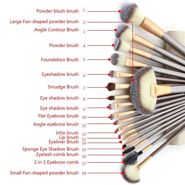 12/18pcs Professional Cosmetic Makeup Brushes