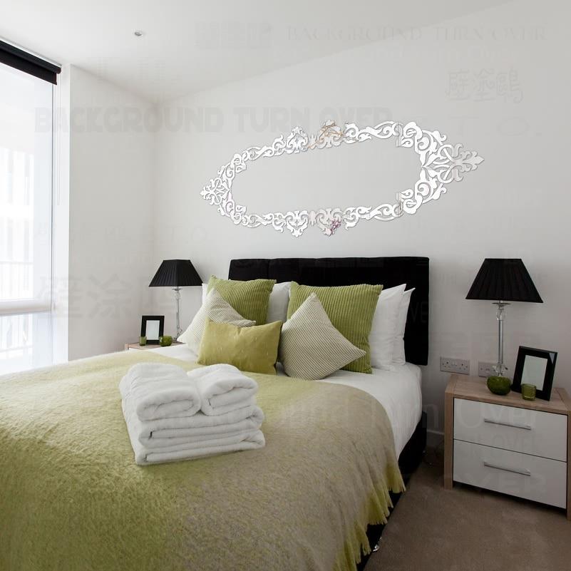 Luxus Dekorative Rahmen 3D Acryl Spiegel Wandaufkleber Decke ...